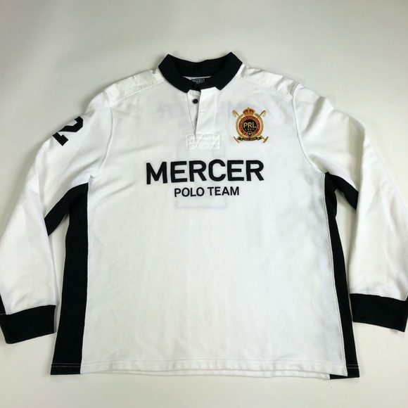 Vtg Xxl Polo Mercer Shirt Jersey Rugby G75 DH9IE2